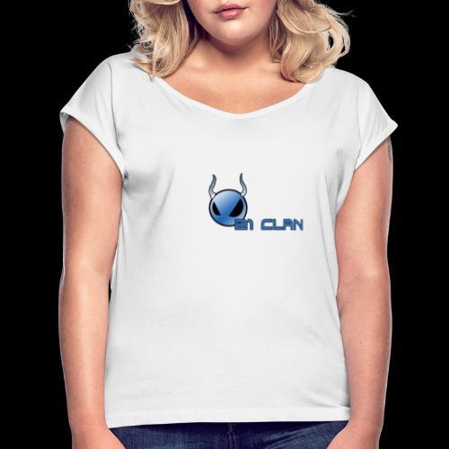 21 smileShop - Frauen T-Shirt mit gerollten Ärmeln