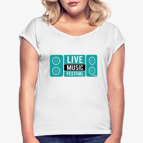 Amo la música - Camiseta con manga enrollada mujer