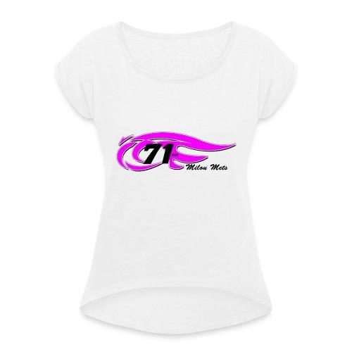 Logo Milou transparant Lichte kleding 2 - Vrouwen T-shirt met opgerolde mouwen