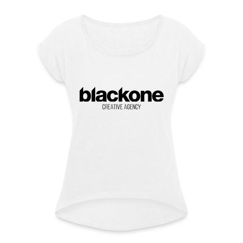 Camiseta negra blackone - Camiseta con manga enrollada mujer