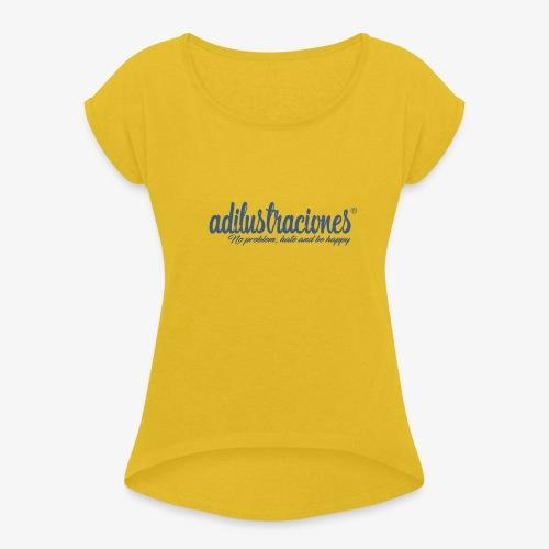 adilustraciones - Camiseta con manga enrollada mujer