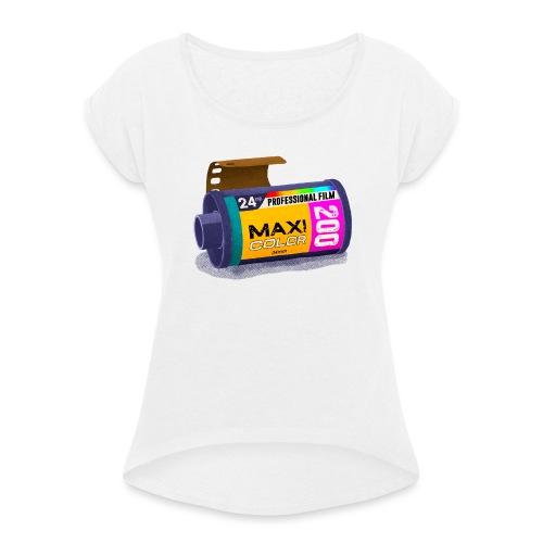 Maxi color photo casette 200 - Dame T-shirt med rulleærmer
