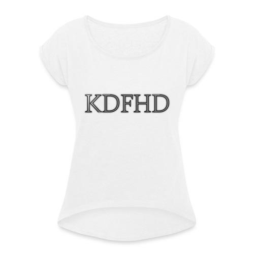 KDFHD - T-shirt med upprullade ärmar dam