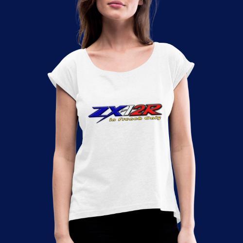 2020 Logo - T-shirt à manches retroussées Femme