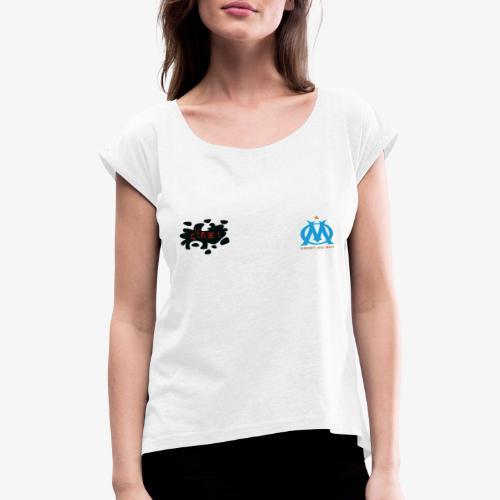ommmmm - T-shirt à manches retroussées Femme