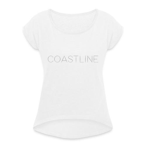 Coastline Bottle - T-shirt med upprullade ärmar dam