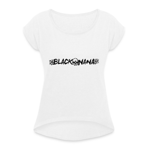 Sudadera chica BlackNana - Camiseta con manga enrollada mujer