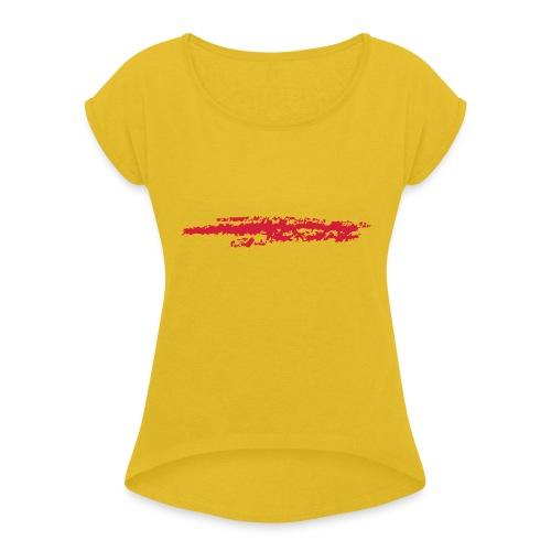 Linie_03 - Frauen T-Shirt mit gerollten Ärmeln