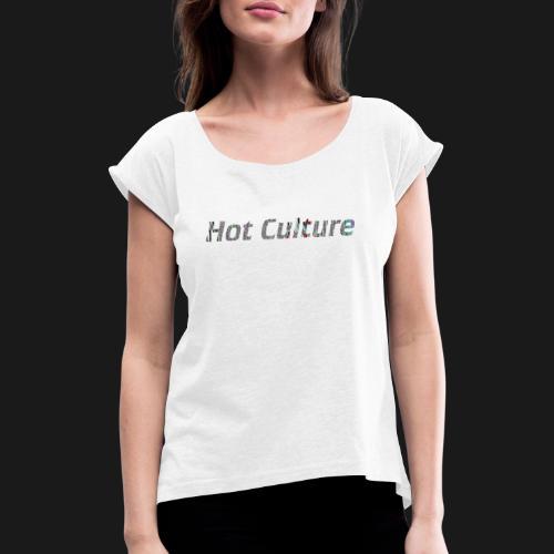 Glitch way - T-shirt à manches retroussées Femme