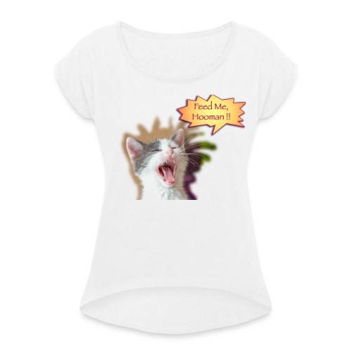 Brocéliande Feed Me - T-shirt à manches retroussées Femme