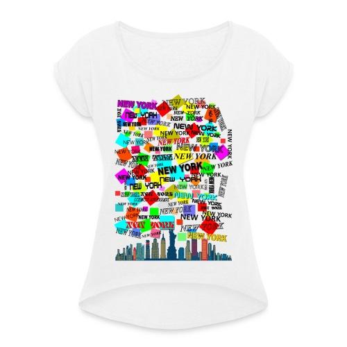 ny colors ny 03 - Maglietta da donna con risvolti