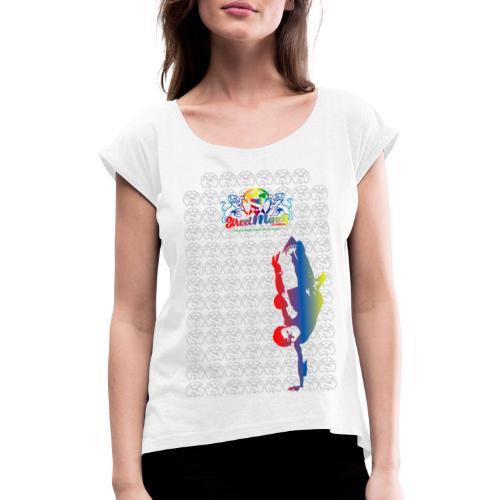 B-Boy Bon Freez - Frauen T-Shirt mit gerollten Ärmeln