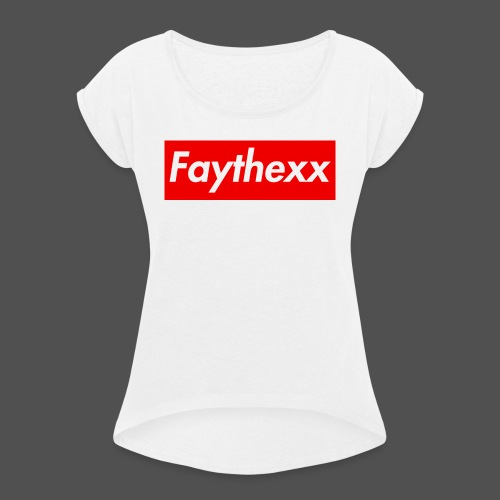 Faythexx Red Style - Women's T-Shirt with rolled up sleeves