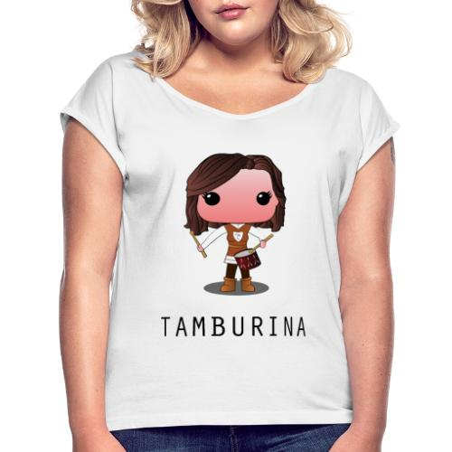 tamburina forenza - Maglietta da donna con risvolti
