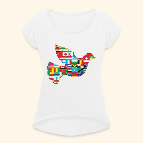 countrys t-shirt - Camiseta con manga enrollada mujer