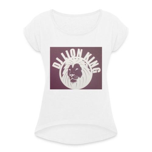 2B1D1E93 1FCE 4061 B078 C6ECC5E09C48 - Frauen T-Shirt mit gerollten Ärmeln