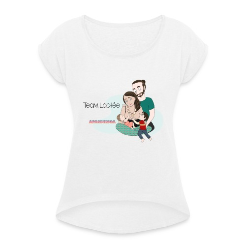 tee-shirt Team Lactée - T-shirt à manches retroussées Femme