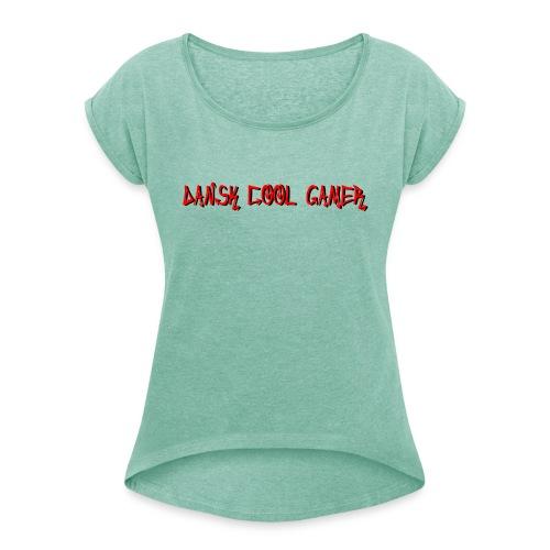 Dansk cool Gamer - Dame T-shirt med rulleærmer