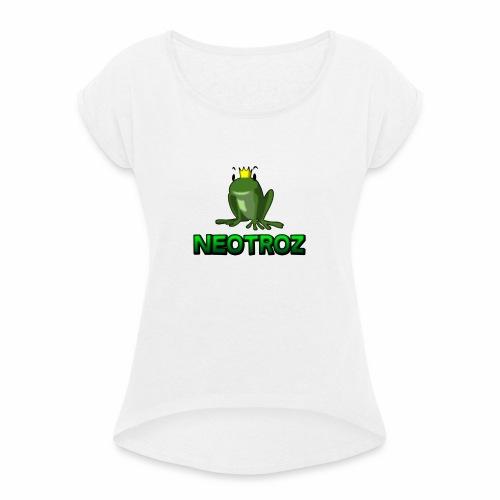 NeoTroZ Grenouille - T-shirt à manches retroussées Femme
