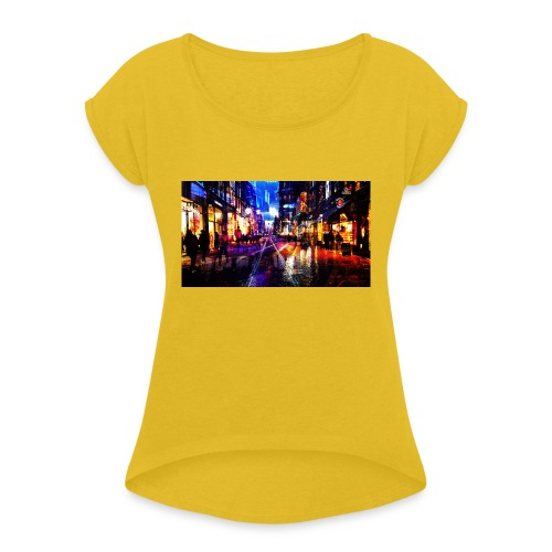 Flip Side Photography Amsterdam - Women's T-Shirt with rolled up sleeves