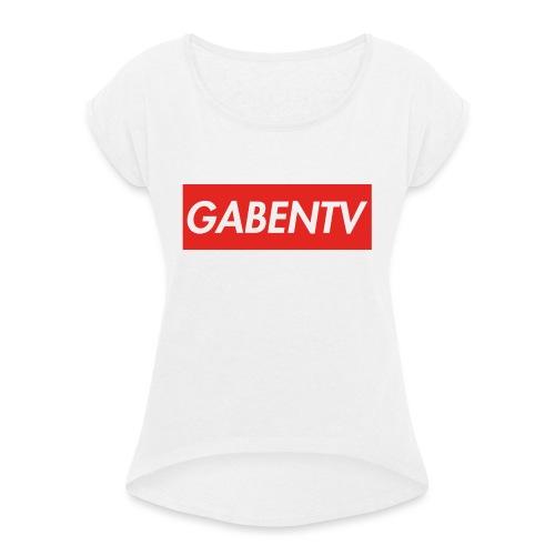 GabenTV Red - Dame T-shirt med rulleærmer