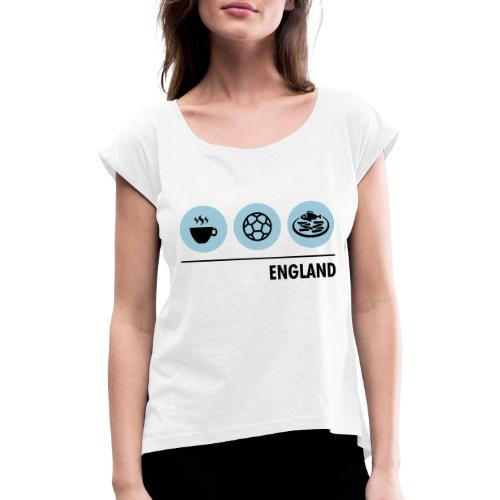 Circles - England - Women's T-Shirt with rolled up sleeves