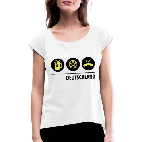 Circles - Germany - Women's T-Shirt with rolled up sleeves
