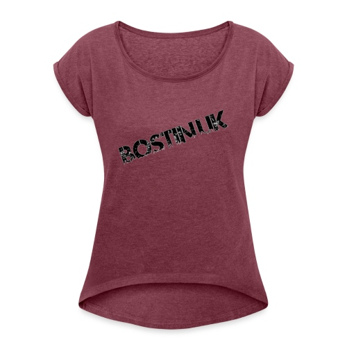 Bostin uk white - Women's T-Shirt with rolled up sleeves