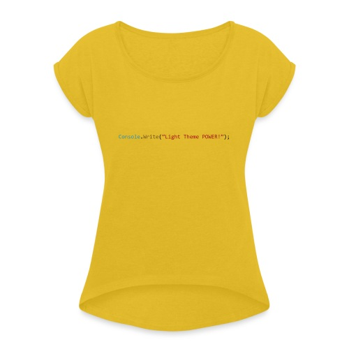 IDE Programming Light Theme C# - Maglietta da donna con risvolti