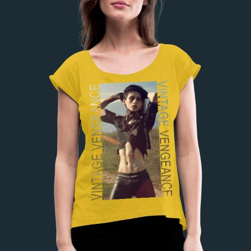 Modello 58 png - Women's T-Shirt with rolled up sleeves
