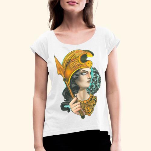 Atenea - Camiseta con manga enrollada mujer