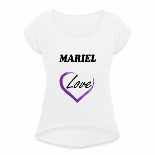 Mariel Love - Camiseta con manga enrollada mujer