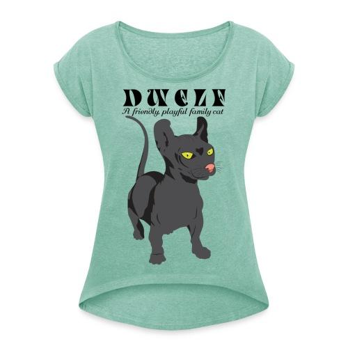 DWELF - Naisten T-paita, jossa rullatut hihat