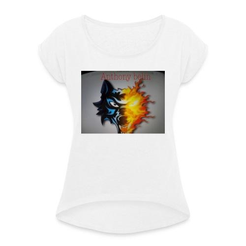 E44A4C12 938F 44EE 9F52 2551729D828D - T-shirt à manches retroussées Femme