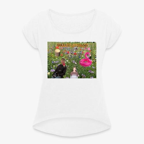 Sulleslotsblog - Dame T-shirt med rulleærmer