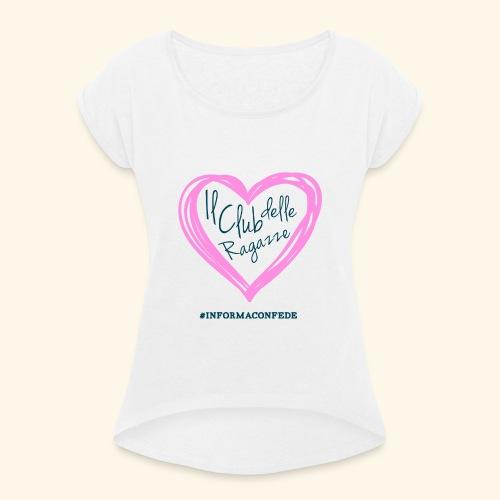 CLUB DELLE RAGAZZE - Maglietta da donna con risvolti