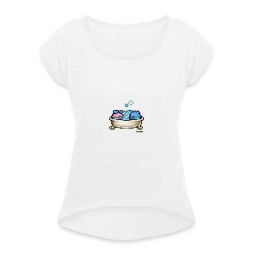 Badewanne - Frauen T-Shirt mit gerollten Ärmeln