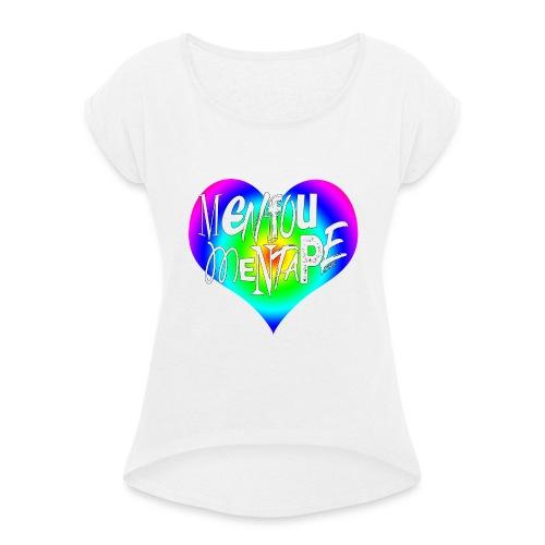 MENFOUMENTAPE Arc en ciel by Alice Kara - T-shirt à manches retroussées Femme