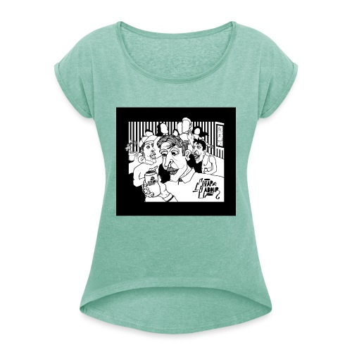 CHEAP LABOUR ALBUM COVER - T-shirt med upprullade ärmar dam