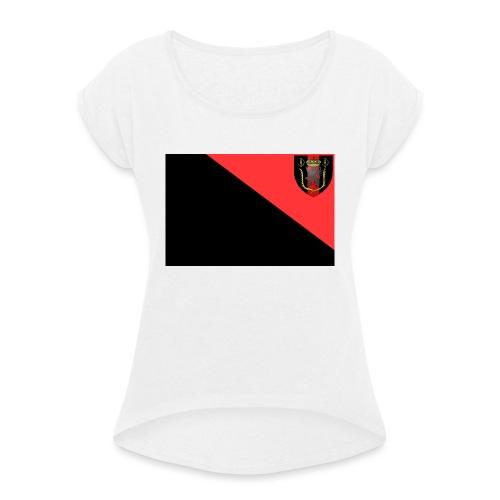 drapeau-jpg - T-shirt à manches retroussées Femme