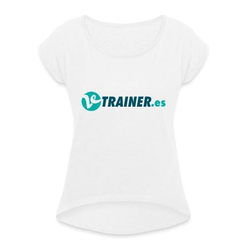 VTRAINER.es - Camiseta con manga enrollada mujer