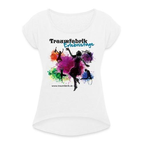 E17 Logo ohne Rand png - Frauen T-Shirt mit gerollten Ärmeln