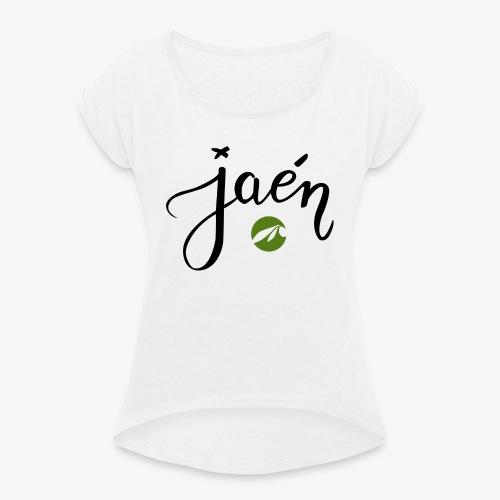 jaen - Camiseta con manga enrollada mujer