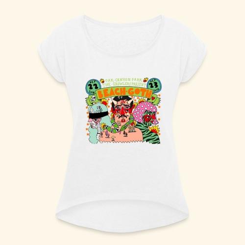 beach goth 2016 - T-shirt à manches retroussées Femme