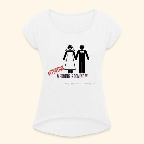 SPOSI - Maglietta da donna con risvolti