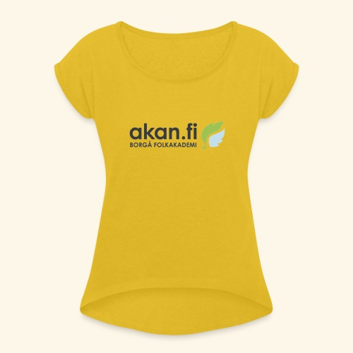 Akan Black - Women's T-Shirt with rolled up sleeves