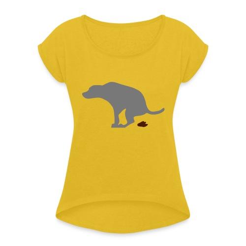 Hund - Frauen T-Shirt mit gerollten Ärmeln