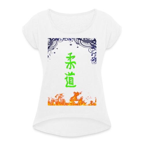 Judo On Fire - T-shirt à manches retroussées Femme