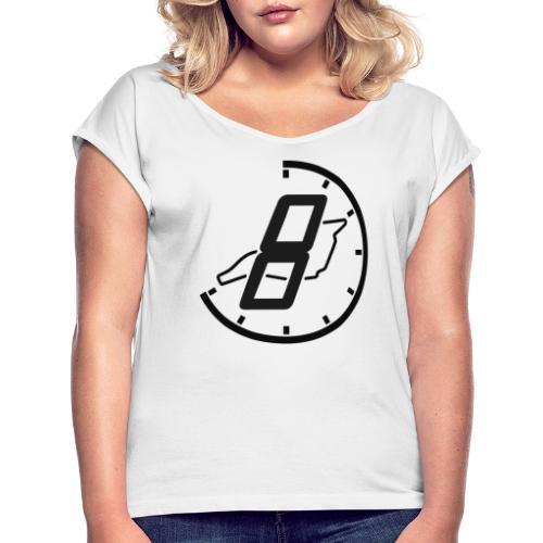 Official 8h Imola Logo - Frauen T-Shirt mit gerollten Ärmeln