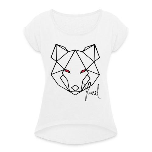 Wolf Rudel - Frauen T-Shirt mit gerollten Ärmeln